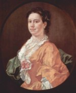 William Hogarth - Bilder Gemälde - Portrait der Madam Salter