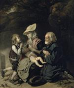Johann Zoffany - Bilder Gemälde - Beggars on the Road to Stanmore