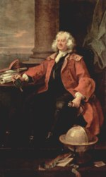 William Hogarth - Bilder Gemälde - Portrait des Captain Thomas Coram