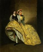 Johann Zoffany - Bilder Gemälde - David Garrick as John Brute in 'The Provok'd Wife' by Vanbrugh, Drury Lane