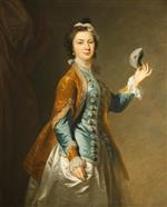Johann Zoffany - Bilder Gemälde - Eva Maria Veigel, Mrs David Garrick, with a Mask