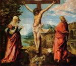 Albrecht Altdorfer - paintings - Christ on the Cross between Mary and St. John