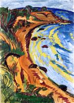 Ernst Ludwig Kirchner - Bilder Gemälde - Bay on the Fehmarn Coast