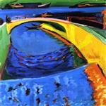 Ernst Ludwig Kirchner - Bilder Gemälde - Bridge at the Mouth of the Priessnitz