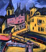 Ernst Ludwig Kirchner - Bilder Gemälde - Bridge by the City Gate, Chemnitz