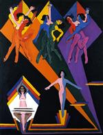 Ernst Ludwig Kirchner - Bilder Gemälde - Dancing Girls in Rays of Color