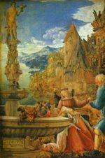 Albrecht Altdorfer - paintings - Rest on the Flight into Egypt