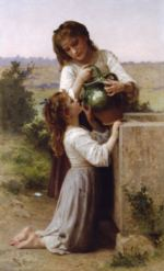William Bouguereau - paintings - At the Fountain