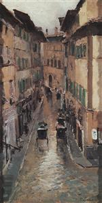Bild:A Florence Street in the Rain