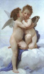 William Bouguereau - paintings - Cupid and Psyche as Children