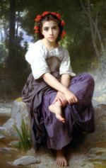 William Bouguereau - paintings - At the Edge of the Brook