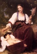 William Bouguereau - paintings - Lullaby