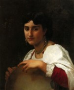 William Bouguereau - paintings - Italien Girl with Tambourine