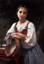 William Bouguereau - paintings - Gypsy Girl with a Basque Drum