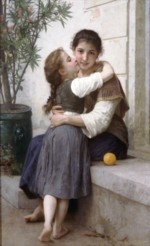 William Bouguereau - paintings - A little Coaxing