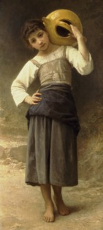 William Bouguereau - paintings - Young Girl Going to the Fountain