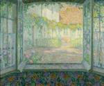 Henri Le Sidaner  - Bilder Gemälde - Courtyard from a Window
