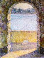Henri Le Sidaner  - Bilder Gemälde - Door on the Sea, Villefranche-sur-Mer