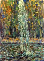 Henri Le Sidaner  - Bilder Gemälde - Fountain in the Woods