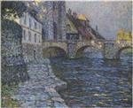 Henri Le Sidaner  - Bilder Gemälde - Gray afternoon at Moret