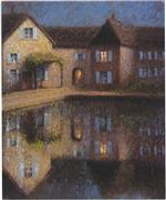 Henri Le Sidaner  - Bilder Gemälde - House by the Eau