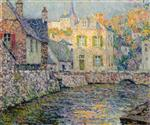 Henri Le Sidaner  - Bilder Gemälde - House by the River