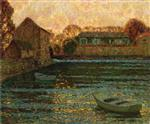 Henri Le Sidaner  - Bilder Gemälde - Mill and House
