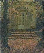Henri Le Sidaner  - Bilder Gemälde - Pavilion of Music in Autumn