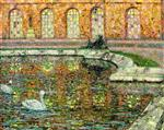 Henri Le Sidaner  - Bilder Gemälde - Reflections, Palace Windows