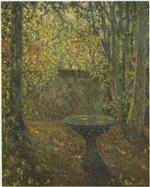 Henri Le Sidaner  - Bilder Gemälde - Table among the Trees