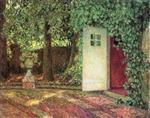 Henri Le Sidaner  - Bilder Gemälde - The Door among the Leaves