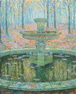 Henri Le Sidaner  - Bilder Gemälde - The Fountain