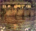 Henri Le Sidaner  - Bilder Gemälde - The House by the Water, Twilight