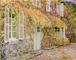 Henri Le Sidaner  - Bilder Gemälde - The House in Autumn
