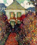 Henri Le Sidaner  - Bilder Gemälde - The House of Jean-Jacques Rousseau
