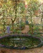 Henri Le Sidaner  - Bilder Gemälde - The Jet of Water