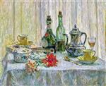 Henri Le Sidaner  - Bilder Gemälde - The Table in front of the Window