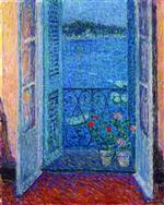 Henri Le Sidaner  - Bilder Gemälde - Window at Twilight, Villefranche-sur-Mer