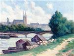 Maximilien Luce - Bilder Gemälde - Angers, the Banks of the Seine