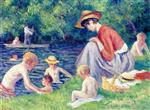 Maximilien Luce - Bilder Gemälde - Bathing in the Cure