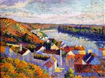 Maximilien Luce - Bilder Gemälde - Bend in the River