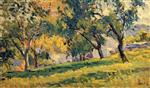 Maximilien Luce  - Bilder Gemälde - Landscape with Apple Trees