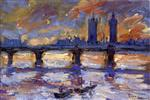 Maximilien Luce  - Bilder Gemälde - London, the Thames, Evening