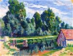 Maximilien Luce  - Bilder Gemälde - Near Moulineux, House by the Water