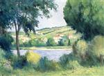 Maximilien Luce  - Bilder Gemälde - Near Rolleboise, View through the Trees