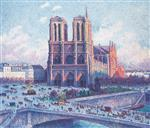 Maximilien Luce  - Bilder Gemälde - Notre Dame, Paris, View from the Quai Saint-Michel