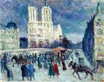 Maximilien Luce  - Bilder Gemälde - Notre-Dame and the Quai Saint-Michel