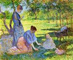 Bild:Poissy, Women in a Garden
