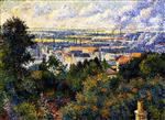 Maximilien Luce  - Bilder Gemälde - Region of Paris, View of Montmartre