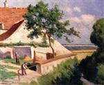Maximilien Luce  - Bilder Gemälde - Rolleboise, the Back of the Church